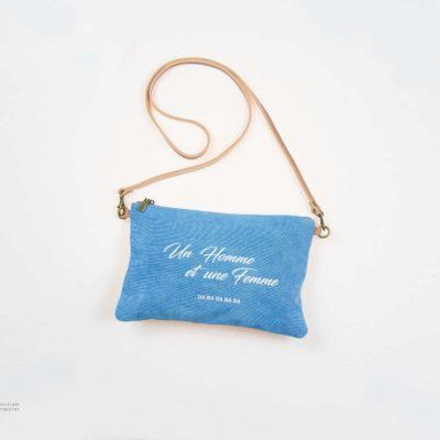 Pochette Un homme et une femme bleu by Bibikovna
